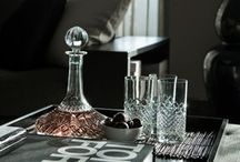 Crystal decanter vignettes