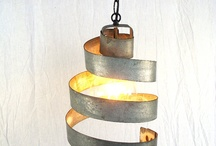 Wine Barrel Ring Lighting / Pendants, wall sconces, chandeliers and more all made from wine barrel rings!