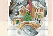 Cross stitch - Houses and landscapes