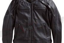 Motorcycle Jacket / Harley Davidson Reflective Skull Motorcycle Leather Jacket