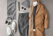 outfit / mørke stofbukser