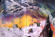 Mural: ¨Monte Titanio, entre las nubes y el destino¨.