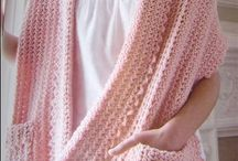 shawls etc / crochet and knits