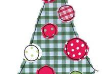 christmas tree applique ideas