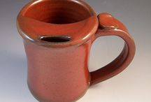 Mustache Mugs/Moustache Mugs I have made over time,,,, / One of my more popular Pottery Items,,,, / by Anne Lemke
