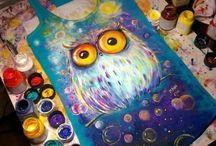 роспись красками