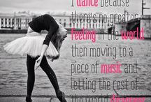 Dance inspiration board / Inspiring board for dancers
