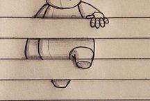 kreslení do sesitu
