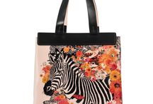 Universal Bag - Happy Zebra / Women Leather Handbags, Limited Edition Designer Leather Bag COLOURS OF MY LIFE - Limited Edition wearable art signed by Anca Stefanescu.