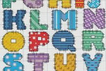 Cross stitch letters