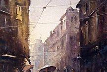 via do i città sotto la pioggia
