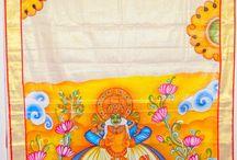 Painting sarees