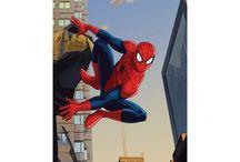 Szuperhősök gyerek függönyök / Pókember, Amerika kapitánya, Hulk, Vasember, Bosszúállók. Számtalan szuperhős dekor és sötétítő függöny