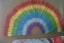 Rainbow craft idea / This page has a lot of free Rainbow craft idea for kids,parents and preschool teachers.