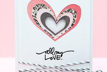 DIY Valentine's Day - Saint valentin idées déco / DIY crafts & romantic ideas for Valentine's Day with spray glue