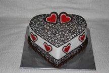 Szív torták