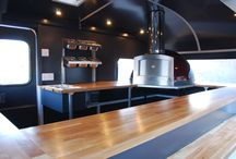 Mobile Pizza Ovens / you would be surprised what you can fit into a mobile catering unit. Starting a Pizzeria with a professional Pizza Oven will get people to your unit.