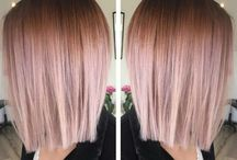 Rose Gold Hair Goals / My favorite rose gold hairs