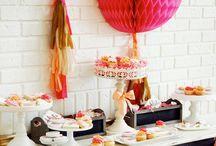 Party time / Ideias e decorações para festas.