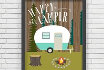 RV / Camper Decor - Greens / Whether you love the retro look or want something more modern, green is a great choice for RV decor!