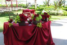 mariage rouge vert