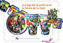 Fiesta de la Liga de la Justicia / Ideas y artículos para una fiesta de cumpleaños de la Liga de la Justicia, con Batman, Superman, la Mujer Maravilla y más.