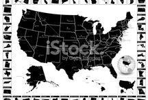 How to find detailed vector maps for all your design projects / Vector maps are very popular because you can use them in a wide variety of ways. Whether for commercial, educational, or recreational purposes, these detailed vector map choices allow the freedom to reach people in a particular state or throughout the entire country.