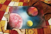 spray space art