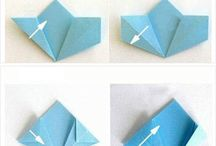 Origami / To entertain 2 active kids during waiting time