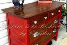 The painted dresser