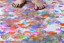 Painting in preschool / by Melissa Moore Gibbs