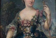 Marianne Loir / Works of French portraot painter Mariann Loir (1715-1769)