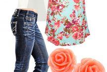 Zestaw ubrań na lato wiosnę