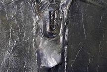 """,,Beksiński - Inspiracje"""" Płaskorzeźby z papieru (bas-relief)"""
