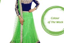 Trending Green Colour Saree / Green Symbolizes Life, Abundant Growth and Energy. Green Symbolizes Self-Respect and Well-Being.