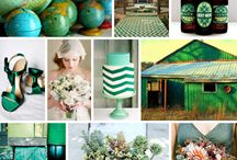 Shades of Green / Emerald, olive, and forest green wedding inspiration