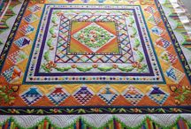 Round Robin / Round Robin Quilts, or quilts that could have resulted from Round Robins