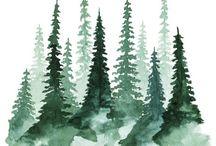 Arbres vert