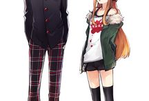 ○AKIRA x FUTABA○ / Futaba's shy gaming personality is cute, and the way she hides behind you when people are around is adorable.