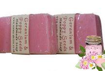 Handmade Soaps / A selection of my handmade glycerin soaps.