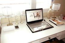 Vanity & Desk / vanity, mirrors, desk.