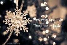 Snowflakes / My love of snowflakes came from the loss of my mother.  She LOVED snowflakes.  She used to cut them by hand and hang them in the window.  And whenever she did that, it snowed.  She did it every Friday night while I was a teenager.  For a long time I hated those snowflakes, but now every single one makes me think of her!  Love you, Mom! ♥