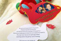 First Birthday Invitations / Children's-Themed birthday invitations