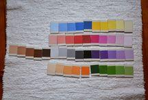kolorowe tabliczki