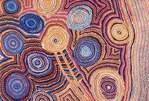 Aboriginal Art -Warm tones / Beautiful warm toned Aboriginal artworks supporting ethical trading of Australian Indigenous Art.