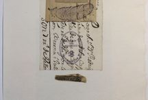 Old letters in Art / creating art from old letters, documents and manuscripts