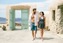 Santorini Honeymoon Portrait Session