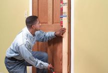 how to fix and hang a new or fixed door