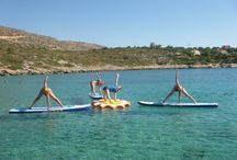 SUP yoga classes Summer 2014 / Enjoy our photos from our 2014 courses with our amazing yoga teacher Nefeli Stamouli