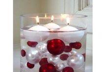 vánoční dekorace červená